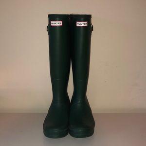 Green Hunter Tall Rainboots